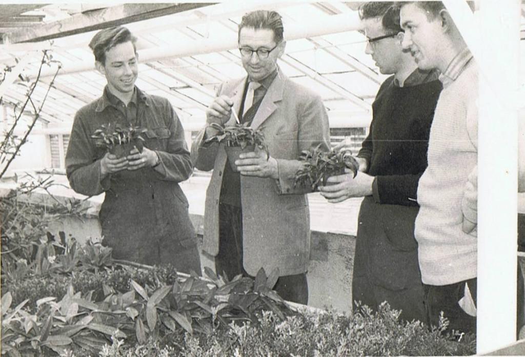 Luitzen Visser op de Tuinbouwschool